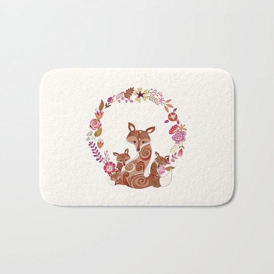 FOX & FLOWERS Bath Mat