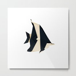 Origami Moorish Idol Metal Print