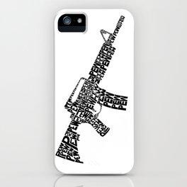 Pew Pew AR-15 iPhone Case