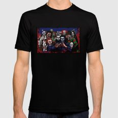 Horror Villains Selfie Black Mens Fitted Tee LARGE