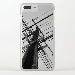 Street Pole Clear iPhone Case