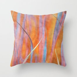 Living colours ~ Abstract  Throw Pillow