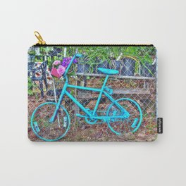 Turquoise Bicycle Carry-All Pouch