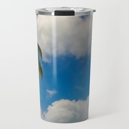 Tropical Palm with Blue Skies Travel Mug