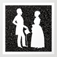 pride and prejudice Art Prints featuring Pride and Prejudice design by Evie Seo