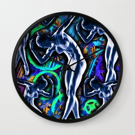 Woman In The Machine Frieze Color 3 Wall Clock