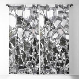 Silver Mirrored Mosaic Blackout Curtain