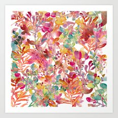 watercolor meadow Art Print