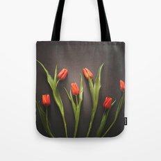 Orange Tulips Tote Bag