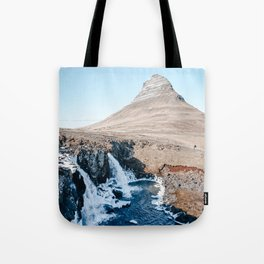 Waterfall in Iceland Tote Bag