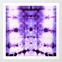 Violet Shibori Satin by ninamay