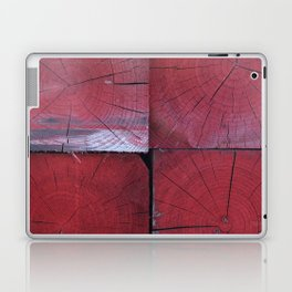 4 red wooden blocks Laptop & iPad Skin