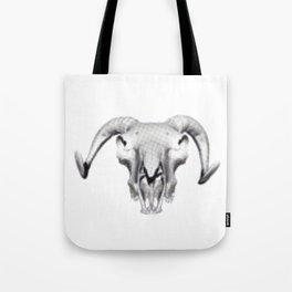 RAM SKULL PIXEL Tote Bag