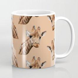 primitive African safari animal brown giraffe Coffee Mug