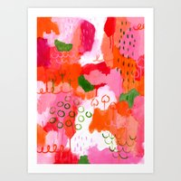 popsicle Art Prints featuring Popsicle by Portia Monberg