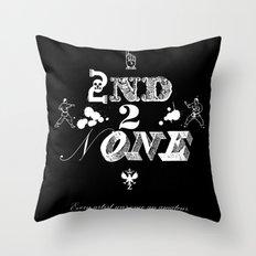 2nd 2 None : white Throw Pillow