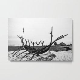 Sun Voyager Sculpture Metal Print
