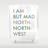 hamlet Shower Curtains featuring Shakespeare - Hamlet - I Am But Mad North-North-West by Corrie Jacobs