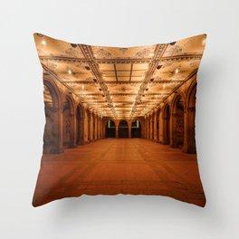 Bethesda Terrace in Central Park Throw Pillow