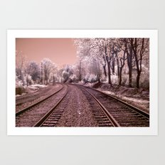 Train Track in Culpeper Art Print
