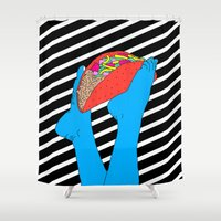 taco Shower Curtains featuring Taco Time by Tyler Spangler
