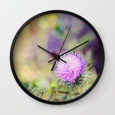 Wild Thistle Wall Clock