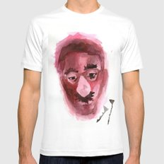 Sad & Clown White MEDIUM Mens Fitted Tee