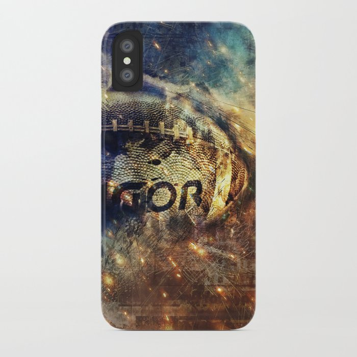 huge discount d19d1 88744 Abstract american football iPhone Case by simonegatterwe