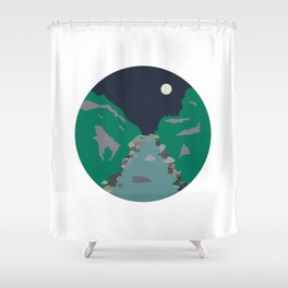 Peaks and Troughs Shower Curtain