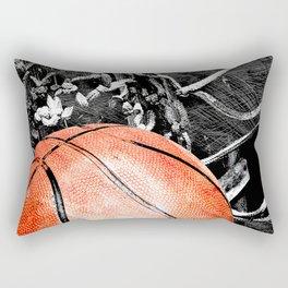 Basketball art print life Rectangular Pillow