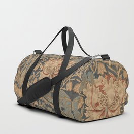 Honeysuckle by William Morris 1876 Antique Vintage Pattern, CC0 Spring Summer Duffle Bag