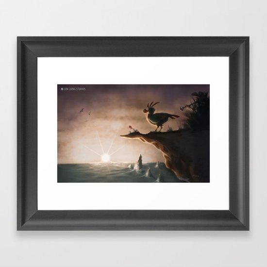 """""""I am a flightless bird…"""" Framed Art Print"""