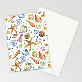 Starfish shell carnival Stationery Cards