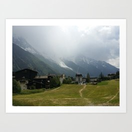 The glacier at Chamonix Art Print