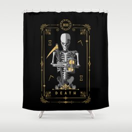 Death XIII Tarot Card Shower Curtain