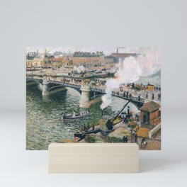 "Camille Pissarro ""Pont Boieldieu in Rouen, Rainy Weather"" Mini Art Print"