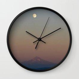 Mount Hood Gradient Wall Clock