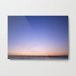 Sunrise Colors Over The Pier Metal Print