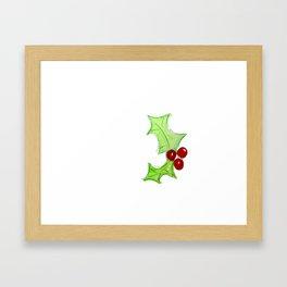 Holly Jolly Framed Art Print