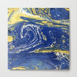 Starry Night Wave #abstract #decor #society6 #buyart Metal Print