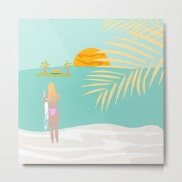 Longing for the beach Metal Print