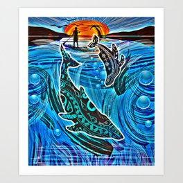 Whales Tale Art Print