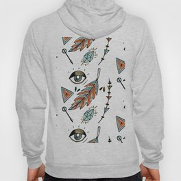 Boho eyes & feathers Hoody