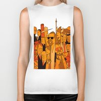 big lebowski Biker Tanks featuring The Big Lebowski by Ale Giorgini