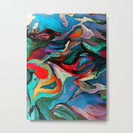 Blue See Bird Metal Print
