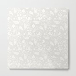 Gray Pattern Metal Print