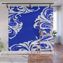 Damask Blue and White by saundramyles