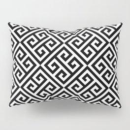 Black & White Ornate Twists Geometric Pattern Pillow Sham