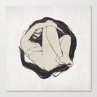 circle Canvas Prints featuring My Simple Figures: The Circle by Anton Marrast