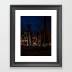 Dark Tunnel Framed Art Print